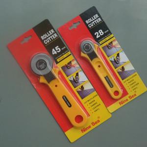 Бесплатная доставка 2 шт. / лот новые инструменты DIY роликовый резак 28 мм и 45 мм ткань бумага винил круговой разрез лезвие лоскутное кожа ремесло
