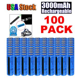 100PCS 3000mAh ricaricabile 18650 3.7V BRC Li-ion Non AAA o AA batterie Torcia Pen laser della torcia