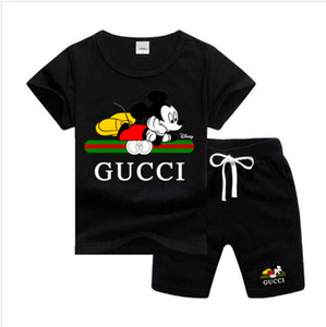 Baby Boys And Girls T-shirts And Shorts Kids Designer clothes Boys Brand Tracksuits 2 Kids Clothing Set Hot Sell Fashion Summer Childrens