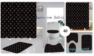 JH ванная комната повесить тень для мужчин и женщин душевая перегородка занавес Модные шторы печать письмо ковер 3 шт. новый стиль Бесплатная доставка