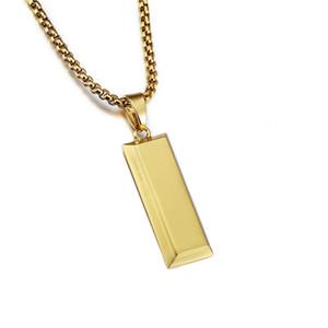 Cube clássico DJ Bar Mens Moda Hip Hop Jewelry Bullion pingentes colares Novo Design banhado a ouro cobra Cadeia Punk moda Homens Presente Para