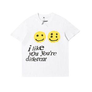 20ss Ins Hot American CPFM.XYZ W.W.C.D. Mi piaci di smiley Tee Skateboard Mens progettista della maglietta Donne Street Luxury casuali Tshirt