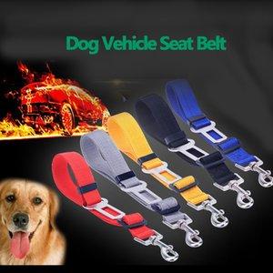2019 Регулируемая домашних собак безопасности Puppy автомобилей Безопасные Ремни Ограничить Rope Ремень нейлоновый сплошного цвета Doggy Авто подголовников Lead Поводок