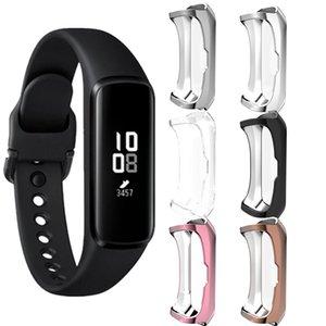 caja delgada de TPU para Samsung SmartWatch reloj Fit-E cubierta de silicona blanda para casos Revestimiento protector de la pantalla Fit-E engranajes banda inteligente