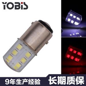 50X 1156 BA15S 1157 BAY15D P21 / 5W 2W 2835 SMD 12 LED del coche de señal de giro Blanco Rojo Amarillo luz de la lámpara del bulbo de la esquina de silicona Aparcamiento