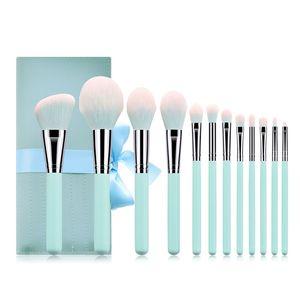 Beruf Make-up Pinsel 12st Bürstensatz hoher Qualität aus weichem Kunsthaar Fundament Kontur eyeashadow bilden Bürsten eingestellt.