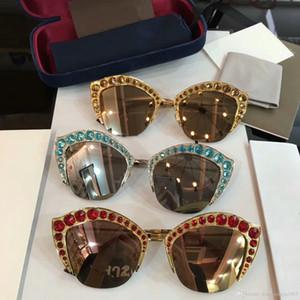 2019 أزياء المرأة مصمم النظارات الشمسية النظارات الشمسية للمرأة بلانك الإطار الأعلى نمط الجودة الصيف إمرأة نظارات حماية نظارات G0114