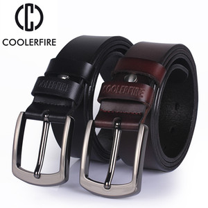 Ccoolerfire Высокий QUALIT подлинный кожаный ремень 2017 года новый роскошный дизайнер мужчин ремни Кескин моды пряжки джинсы FreeShipping Y200525