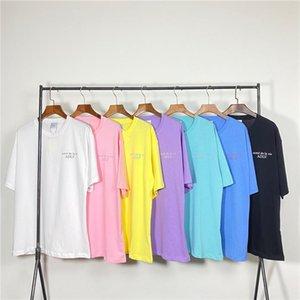 Acme De La Vie ADLV Brand Designer Лучшие качества Мужчины Женщины T-Shirt Мода для печати Тройники с коротким рукавом # 505