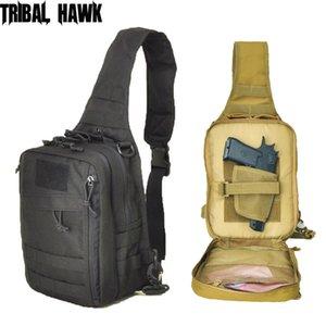 Tactical exterior Shoulder Bag Exército Revólver portador Protector Storage Bag Holster pistola Bolsa Caça Acessórios