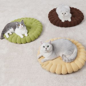 Cat Warm Bed Comfortable Cookie shape Pet Cushion Top Quality Dog Cat Sleeping Bed casa para gato Mat For Cats