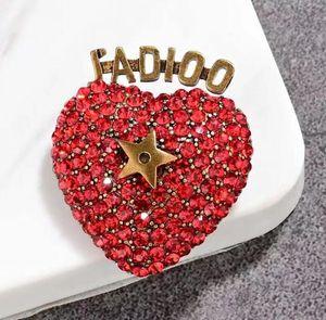 Nuove retrò orecchini lettera cuore collana di strass Anello Donna spilla accessori di lusso amante regalo di alta qualità