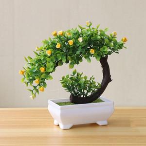 Künstliche Pflanzen Bonsai Kleiner Baum Topfpflanzen Fake Flowers Topf Verzierungen für Home Decoration Hotel Garden Decor