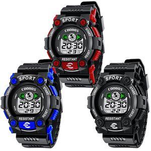 Hombres grandes niños niños niños Venta al por mayor Moda Deportes Relojes lindos estudiante LED Reloj digital regalo electrónico fiesta reloj COOLBOSS 1008