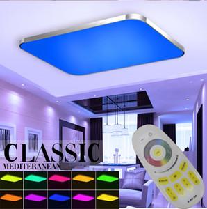 LED Tavan Uzaktan Kumanda Dim Renk Ve RGB Fikstür Luster Plafonnier değiştirme ile Lambası Luminaria Tavan Işık Işıklar