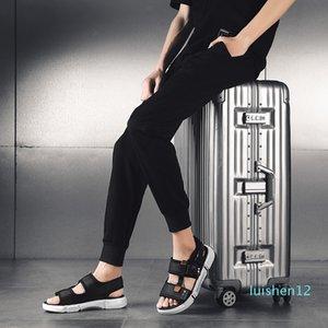 Горячая продажа-мода мужчины открытый пляж обувь Повседневная обувь мужчин Роман вьетнамки тапочки плоские Sorrynam л12