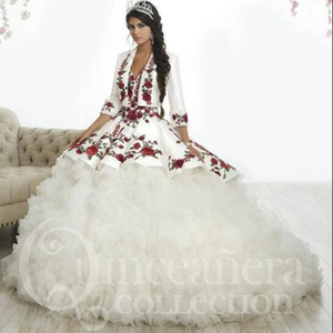 2020 Vintage Quinceanera Dresses Sweetheart Lace Up Back Appliqued Sleeveless Ball Gown Girl's Pageant Dress Formal Party Wear