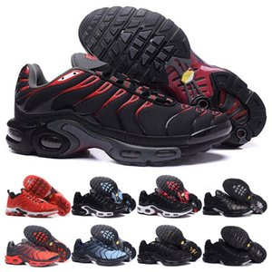 TN por mayor Negro rojo de los zapatos corrientes para el hombre estilista Hombres Triple Clásica Negro Naranja Rojo astilla Correr Deporte zapatillas de deporte al aire libre de los zapatos atléticos