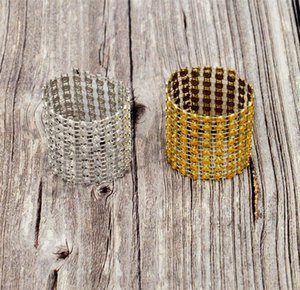 3000pcs 8 rows of napkins ring deduction wedding table and chairs buckle plastic net drilling decorative Napkin Rings I530
