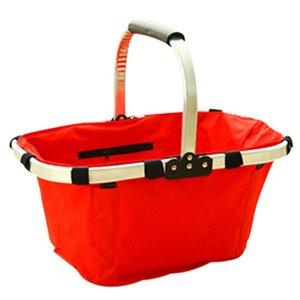 Bolsas reutilizables plegables impermeable respetuoso del medio ambiente de compras de supermercado de picnic mano Basket 2016 LXY9