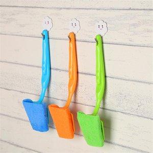 Cabeça de escova substituível Cabo longo escova longa alça banheira removível / banheiro / telha / Scrub escova Scrubber leve identificador destacável
