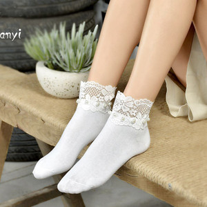 2020 Brand Princess Ankle women Vintage Socks Lace Sweet Cute Ruffle Frilly