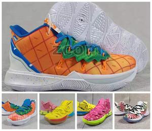 Abacaxi Casa 5 5s Que correia Graffiti os Sapatos Kyrie Mens Basketball Conceitos sol Kyries Baixa 2 Multi-Color de Orion x Esponja Zapatos