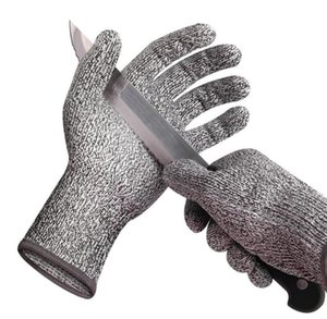 Перчатки с защитой от перенапряжения, уровень защиты 5, надрезанные перчатки Перчатки HPPE, устойчивые к порезам Перчатки с защитой от порезов и защитой от порезов стальной проволокой