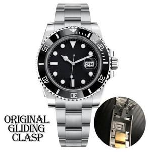 Mens schwarze Uhr automatische mechanische Keramik-Lünette voll Edelstahl Original-Gliding Verschluss Sapphire 5 ATM wasserdicht U1 u1 Fabrik