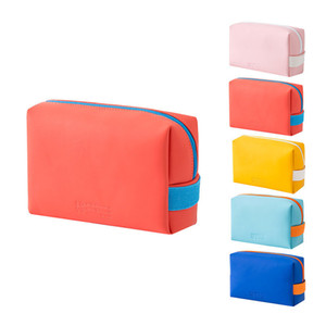 Candy-colored cosmetic bag for travel Best silicone toiletry organizer bag waterproof pu lazy storage aviation toiletry bag