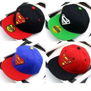 A106 male and female baby Superman pattern cap baseball cap children's flat edge hip-hop baseball hat