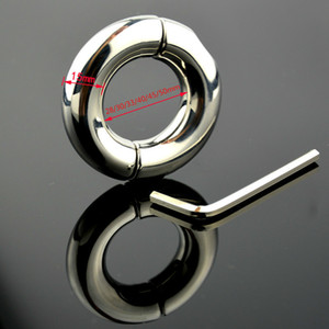 Screw Stainless Steel Penis Rings Metal Semen Lock Cock Cage Chastity Sex Delay Product Male Afrodisiac Device Men Adult Toy T200628