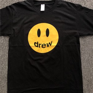 Justin Bieber Moda T-Shirt Erkek Giyim Baskılı Hip Hop Ç Boyun Casual Gevşek Drew Ev Tasarımcı T Gömlek Tişörtler