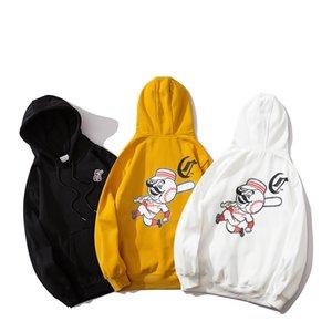 Unisex para hombre de gran tamaño con capucha diseñador Marca de lujo con capucha Jumper 3 colores bordado Impreso Fleece Otoño Invierno B103149Z