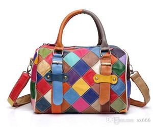 2019 brand fashion luxury designer bags 26 styles National style Genuine Leather Color stitching designer handbags New hot buy