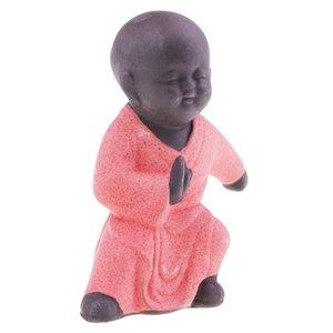 Kleine Buddha-Statue Mönch Figur Tathagata Tee Pet Ceramic Crafts