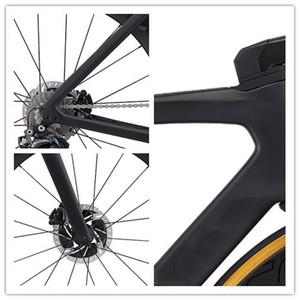 2020 새로운 도로 자전거 탄소 프레임 포크 시트 포스트 헤드셋 클램프 700C UD 디스크 브레이크 탄소 프레임 DI2 줄기 핸들 포함