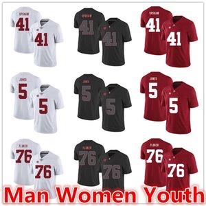 Personalizza NCAA Alabama Crimson Tide di calcio maglie Courtney Upshaw 41 Cyrus Jones 5 D.J. Fluker 76 Maglia qualsiasi dimensione numero nome S-5XL