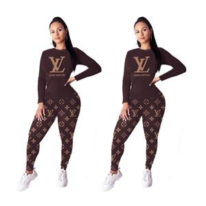 Frauen Zweiteiler Outfits Sportkleidung Anzug Langarm-Jogging Sport Hoodie Leggings Anzüge Pullover wear Frauen Kleidung klw2508