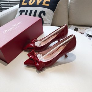 73 luxury designer High heels Women Sandals Leather Slim Heel Pump Deisgner Lady Leather Wedding Shoes Dress Shoes size 35-40 with box