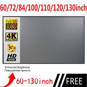 Projecteur Simple Rideau Screen Screen 60 72 84 100 110 120 130 Pièce Home Office de plein air Portable 3D HD Screen