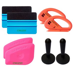 8 en 1 3M mini-feutre squeegee porte-aimant de coupe squeegee rose voiture Fenêtre Film vinyle Scraper emballage feuille Decal Kit Outils K48