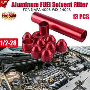13PCS 1 / 2-28 NAPA 4003 WIX 24003 سيارة الألومنيوم FUEL FILTER CA