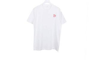 Мужчины T Shirt Мода лето Новые футболки Повседневная футболка с коротким рукавом дышащий тройники сердце Печать Смешные Top тройники