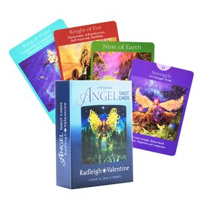 Doreen Virtue RADLEIGH Valentine Komple tarafından Melek Tarot Kartları A 78-Card Deck andGuidebook Tarot Oracle Oyun