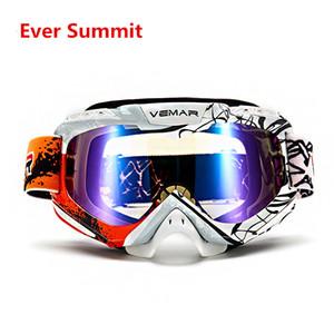 VEMAR Motokros Gözlük Motosiklet Gözlük PU Rüzgar Geçirmez Kayak Moto Bisiklet Gözlük Cam Dirt Bike Kask Saçakları Gözlük Şövalye 2019 Yeni