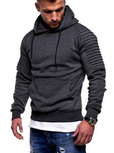Plus Size Fold Mens Hoodies Printemps Automne Épais Sport Sweatshirts Fitness Pullover Mâle Vêtements