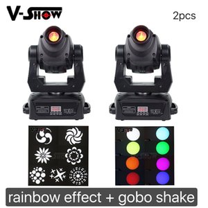2pc / lot 90W LED Head Spot Spot Stage Lighting 14 DMX Channel Hi-Quality 90W Prism Prism LED Luce commovente