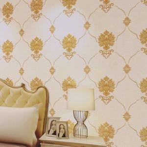 Avrupa Şam basit Duvar Kağıdı 3d stereo pvc su geçirmez duvar kağıdı yatak odası oturma odası sıcak pastoral tarzı ev dekoratif duvar