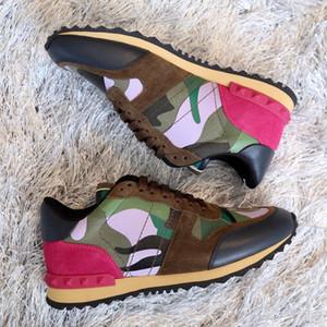 [Orijinal Kutusu] 2019 camo süet çivili kamuflaj kaya erkek kadın koşucu kadınlar için sneaker ayakkabı, erkekler damızlık rahat ucuz satış EU36-46
